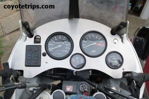 Honda Africa Twin RD04 with dashboard