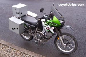 KLR650 with Aluminum Panniers