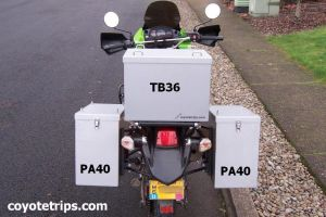 KLR650 with coyotetrips.com panniers
